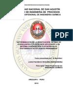 Determinación de La Dosificación Óptima de Coagulante Efluentes Pesqueros