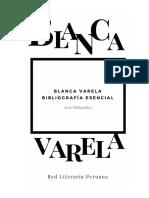 Bibliografía Esencial. Blanca Varela 2