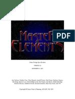 Master Of Elements Design Document