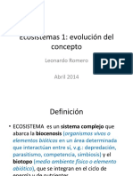 Ecosistemas - Evolución del Concepto
