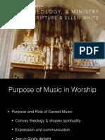 Purpose of music in worship