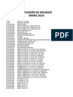 AnalisisMatrices-2018 Insumos