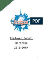horizons employee handbook