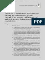 Medida de la función renal. Evaluación del cociente microalbuminuria/creatinina. Valor de la tira reactiva y del examen del sedimento urinario. Indicaciones para solicitar ecografía renal