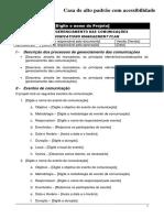 Modelo de plano de gerenciamento de comunicações