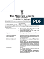 Mizoram Driver Group b and c Post Recruitment Rules 2018