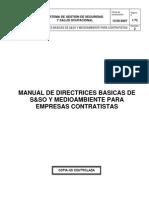MANUAL DE DIRECTRICES BASICAS DE SEGURIDAD INTEGRAL Y MEDIOAMBIENTE PARA EMPRESAS CONTRATISTAS R2