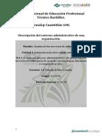 -Descripción del entorno administrativo de una organización.