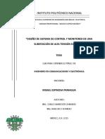 Diseño de Sistema de Control y Monitoreo de Una Subestacion de Alta Tension Electrica