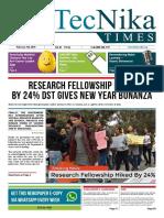 Biotecnika Times Newspaper 5th February 2019
