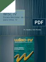 WISC IV Escala Wechsler  de inteligencia para niños  IV