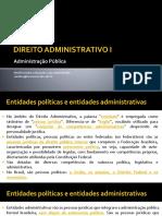 Direito Administrativo I - Administração Pública II