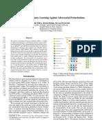 Defense against adversarial perturbations