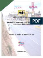 Anuario de Aforos 2008 MTI Nicaragua