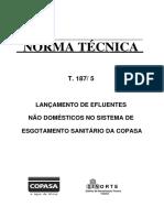 Norma Tecnica t187 5 Lancamento Efluentes Nao Domesticos