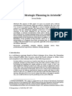 Iovan Drehe, Dialectical Strategic Planning in Aristotle - Final