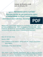 Cartaz Primeira Palestra de SOCIOLOGIA JURIDICA