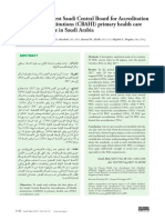 Outcome of the First Saudi Central Board for Accre