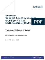 GCSE 9 1 Mathematics Edexcel 2 Year Scheme of Work