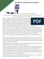 ISO 9001 - Requisitos de Documentação