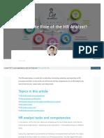 Blog Hr Analyst Role