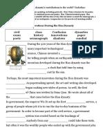 han dynasty worksheet