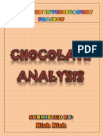 Best Chemistry Investigatory Project | Class XI & XII | Chocolate Analysis