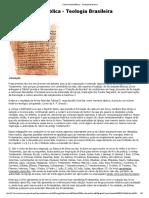 Canonicidade Bíblica - Teologia Brasileira