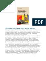 Volum despre relaţiile dintre Stat şi Biserică.docx