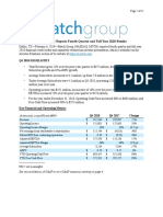 4Q 2018 Match Group Earnings Release