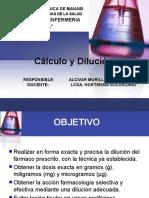 calculo y dilución
