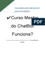 Curso Mestre Do ChatBot Funciona?