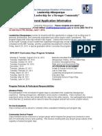 Leadership Albuquerque Application