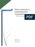 Países Primarios y Manufactureros Exportadores - Un Análisis Comparativo