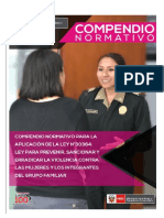 Compendio Actualizado Pnp Ley 30364 4ta Edicion