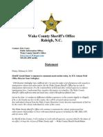 Statement_Sheriff Baker Responds to ICE Regional Director