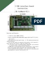USB MACH3 Interface Board BL-UsbMACH-V2.1 Instruction