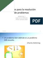 Técnicas Para La Resolución de Problemas