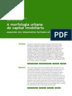 A Morfologia Urbana Do Capital Imobiliário Expansão Dos Loteamentos Fechados Em Taubaté-SP