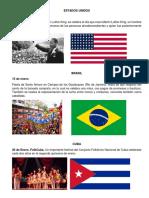 fechas importantes de los paises