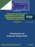 Recorrido Visual Reunión sobre Prioridades Estratégicas CEAAL EFPyAI 17y18nov2018