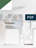 StudentGuide I FortiGAte 5.4