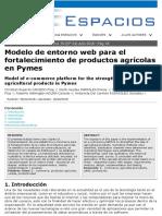 Modelo de entorno web para el fortalecimiento de productos agrícolas en Pymes