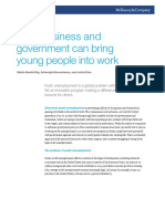 How Business and Government Can Bring Young People Into Work