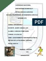 INFORME N° 5 LEVANTAMIENTO POR POLIGONAL CERRADA.docx