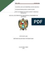 MÉTODOS DE ESTUDIO UNIVERSITARIO (Guía de clase)