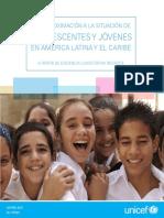 UNICEF Situacion de Adolescentes y Jovenes en LAC Junio2105