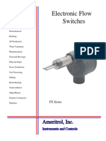 Electronic flow switch