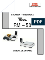 Balanza digi rm50 manuql