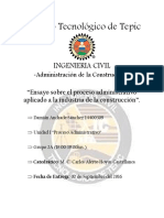 323854226 Proceso Administrativo en La Construccion